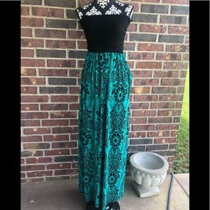 Emerald Brand long strapless maxi. Size small
